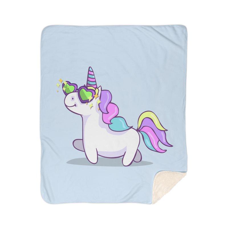 Fabulous Unicorn Home Sherpa Blanket Blanket by anishacreations's Artist Shop