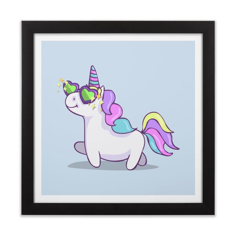Fabulous Unicorn Home Framed Fine Art Print by anishacreations's Artist Shop