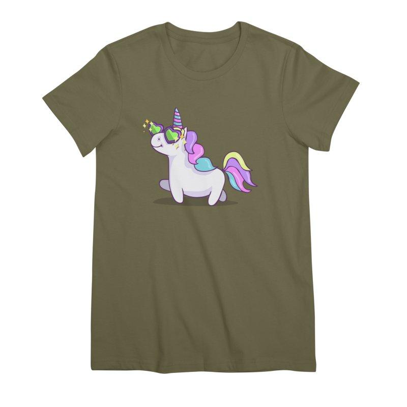 Fabulous Unicorn Women's Premium T-Shirt by anishacreations's Artist Shop