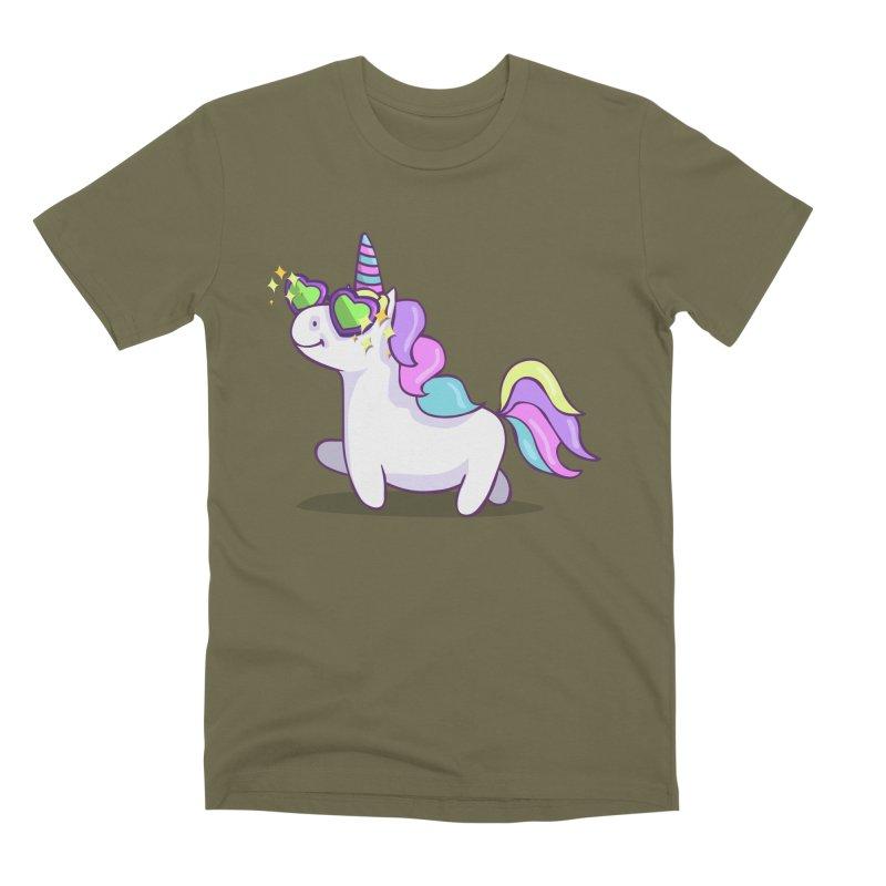 Fabulous Unicorn Men's Premium T-Shirt by anishacreations's Artist Shop