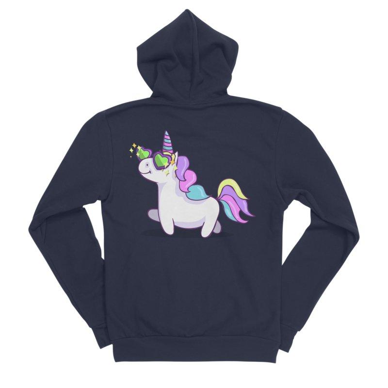 Fabulous Unicorn Women's Sponge Fleece Zip-Up Hoody by anishacreations's Artist Shop