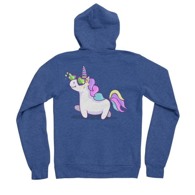 Fabulous Unicorn Men's Sponge Fleece Zip-Up Hoody by anishacreations's Artist Shop