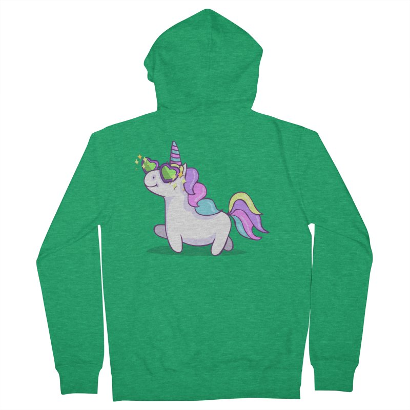 Fabulous Unicorn Men's French Terry Zip-Up Hoody by anishacreations's Artist Shop
