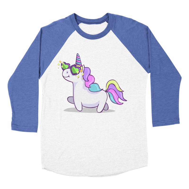 Fabulous Unicorn Men's Baseball Triblend Longsleeve T-Shirt by anishacreations's Artist Shop