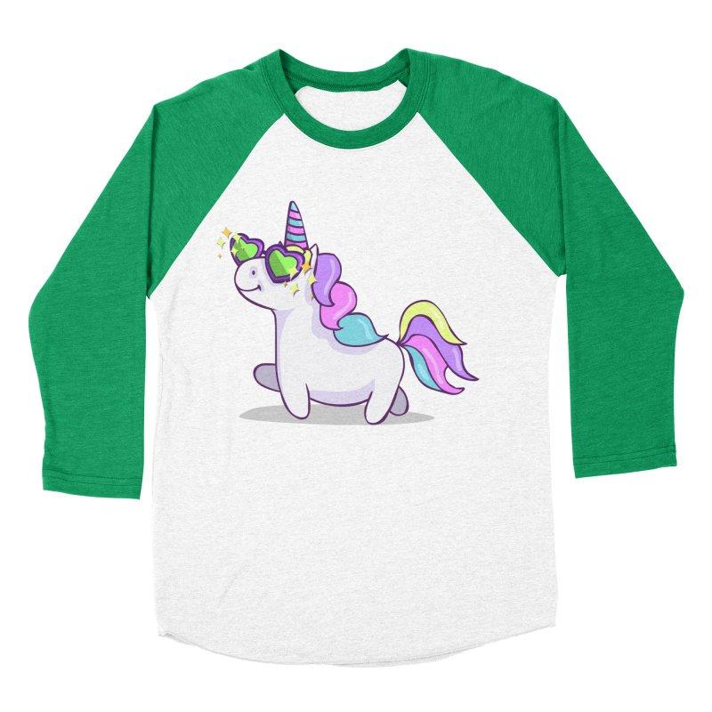 Fabulous Unicorn Men's Baseball Triblend Longsleeve T-Shirt by anishacreations's Artist Shop