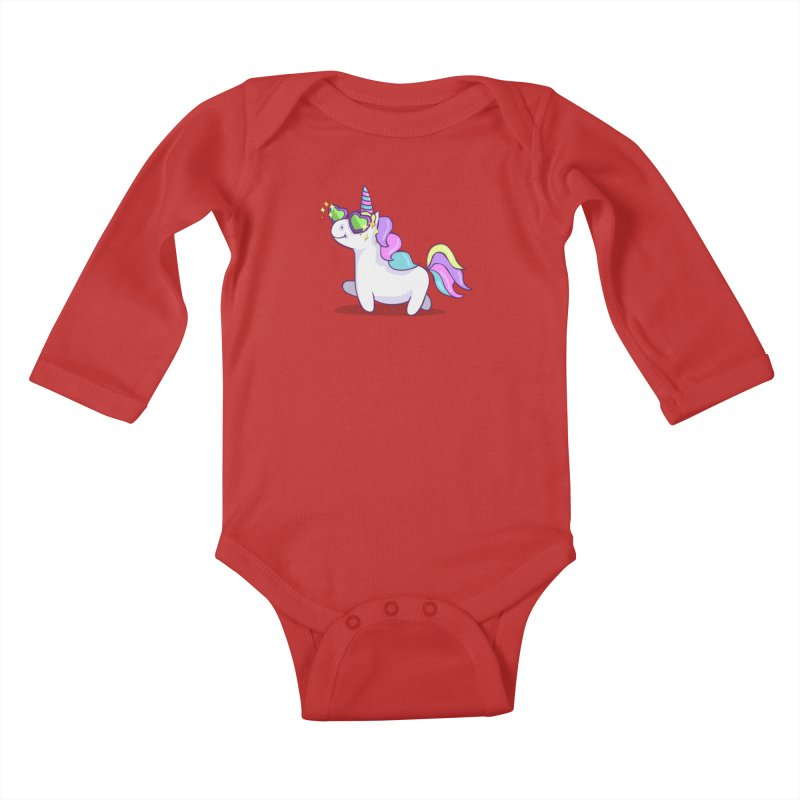 Fabulous Unicorn Kids Baby Longsleeve Bodysuit by anishacreations's Artist Shop