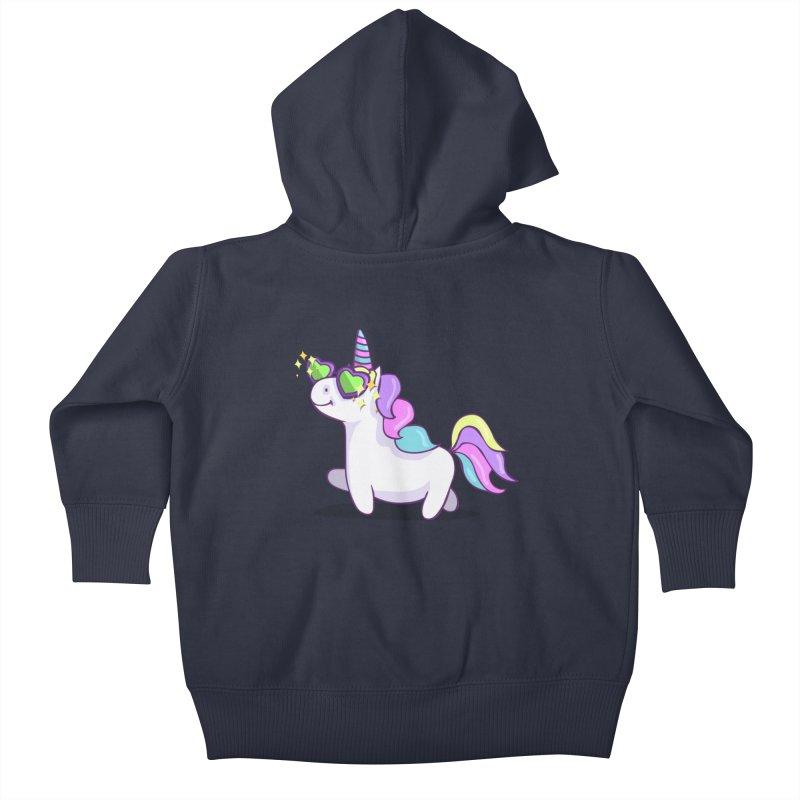 Fabulous Unicorn Kids Baby Zip-Up Hoody by anishacreations's Artist Shop
