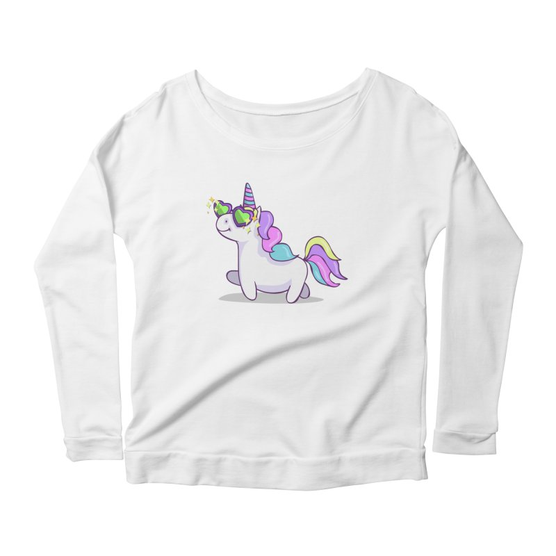 Fabulous Unicorn Women's Scoop Neck Longsleeve T-Shirt by anishacreations's Artist Shop