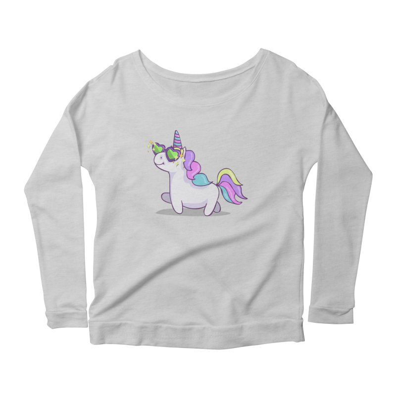 Fabulous Unicorn Women's Scoop Neck Longsleeve T-Shirt by anishacreations's Artist Shop