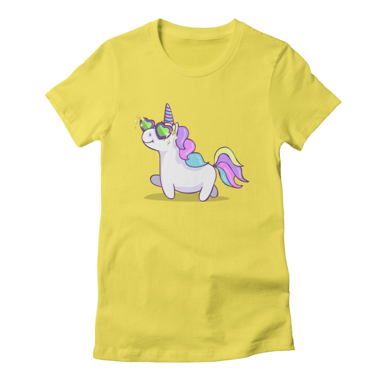 Fabulous Unicorn Women's Fitted T-Shirt by anishacreations's Artist Shop