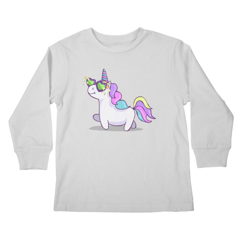 Fabulous Unicorn Kids Longsleeve T-Shirt by anishacreations's Artist Shop