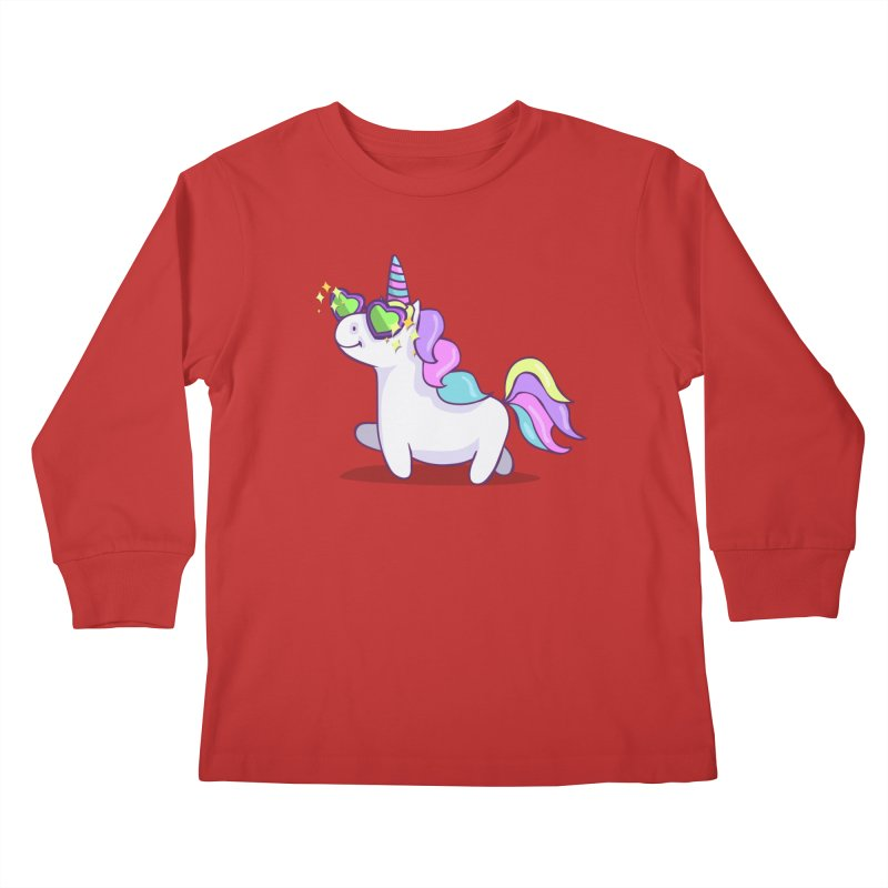 Fabulous Unicorn Kids Longsleeve T-Shirt by anishacreations's Artist Shop