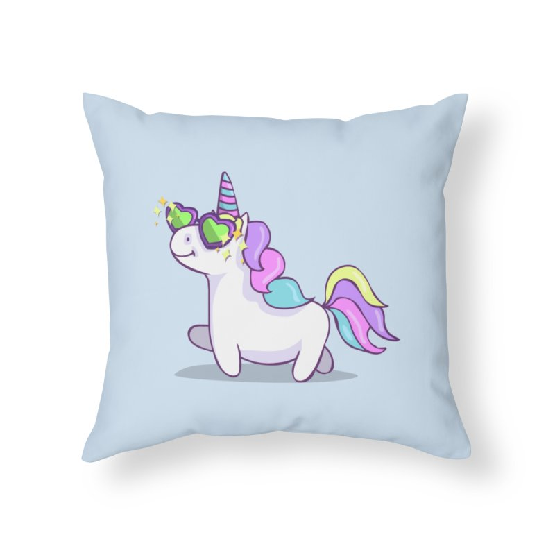 Fabulous Unicorn Home Throw Pillow by anishacreations's Artist Shop