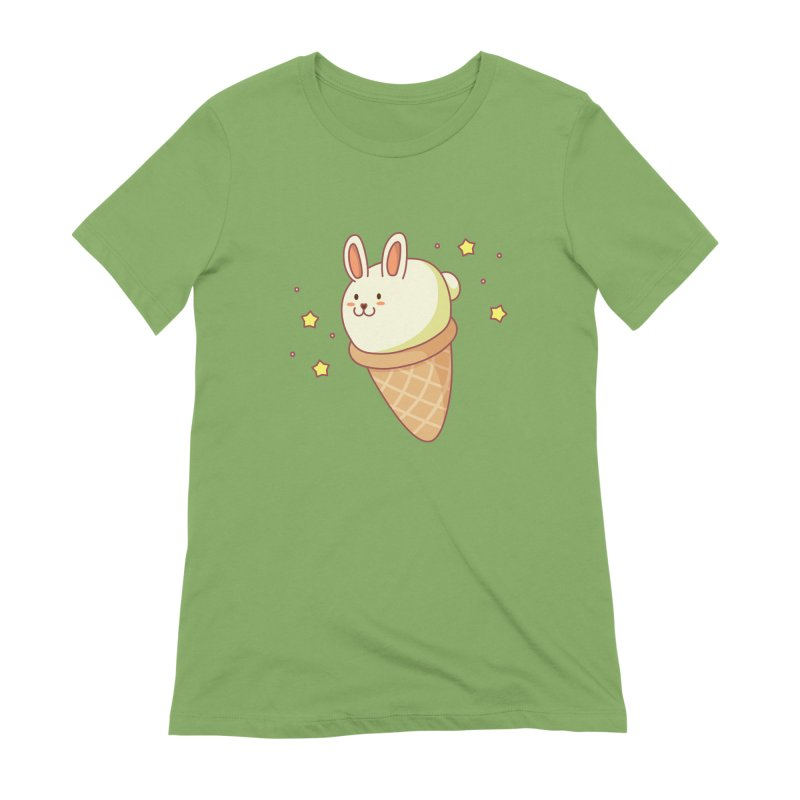 Bunny-lla Ice Cream Women's Extra Soft T-Shirt by anishacreations's Artist Shop