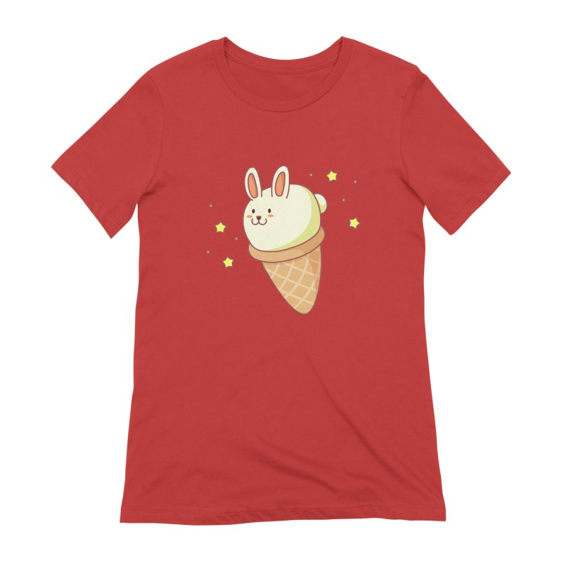 Bunny-lla Ice Cream Women's Extra Soft T-Shirt by anishacreations's Artist Shop