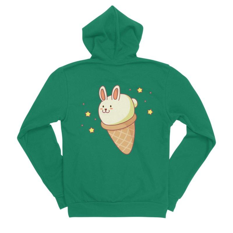 Bunny-lla Ice Cream Women's Sponge Fleece Zip-Up Hoody by anishacreations's Artist Shop