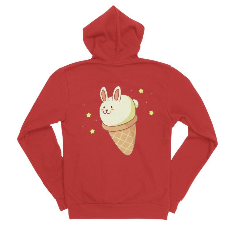 Bunny-lla Ice Cream Men's Sponge Fleece Zip-Up Hoody by anishacreations's Artist Shop
