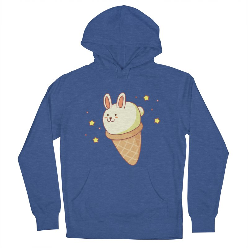 Bunny-lla Ice Cream Men's French Terry Pullover Hoody by anishacreations's Artist Shop