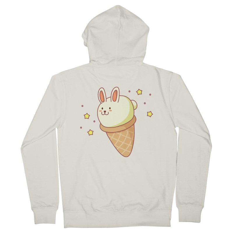 Bunny-lla Ice Cream Men's French Terry Zip-Up Hoody by anishacreations's Artist Shop