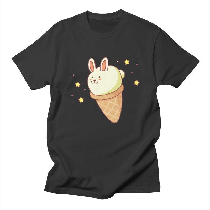 Bunny-lla Ice Cream Men's Regular T-Shirt by anishacreations's Artist Shop