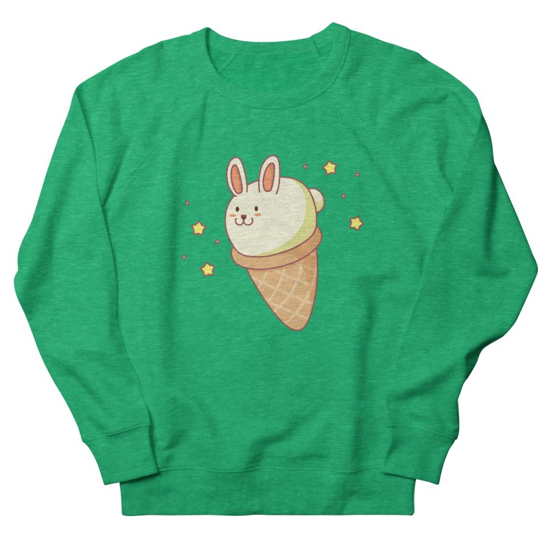 Bunny-lla Ice Cream Women's French Terry Sweatshirt by anishacreations's Artist Shop