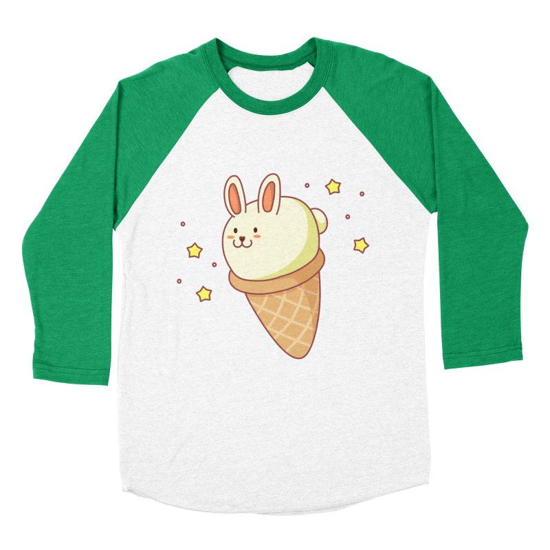 Bunny-lla Ice Cream Women's Baseball Triblend Longsleeve T-Shirt by anishacreations's Artist Shop