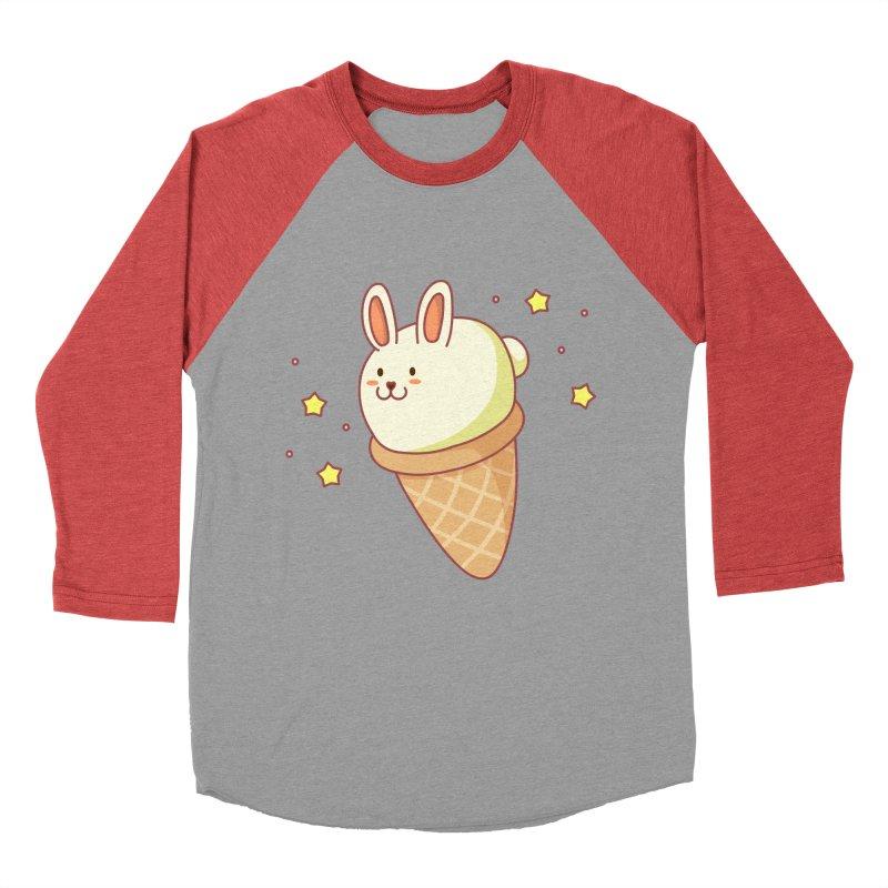 Bunny-lla Ice Cream Women's Baseball Triblend Longsleeve T-Shirt by anishacreations's Artist Shop
