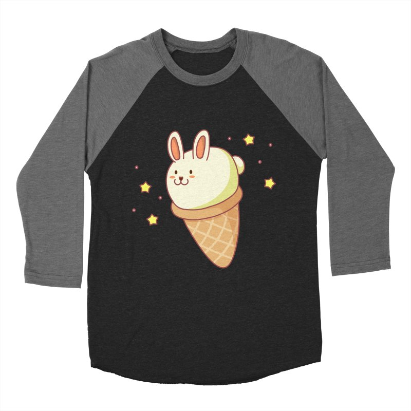Bunny-lla Ice Cream Men's Baseball Triblend Longsleeve T-Shirt by anishacreations's Artist Shop