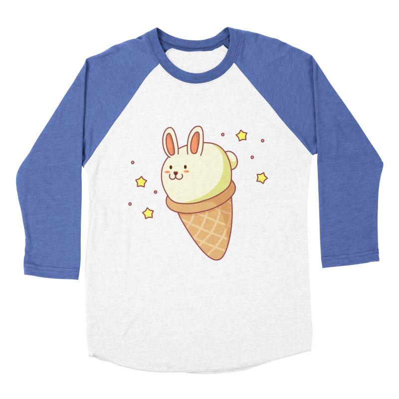 Bunny-lla Ice Cream Men's Baseball Triblend Longsleeve T-Shirt by anishacreations's Artist Shop