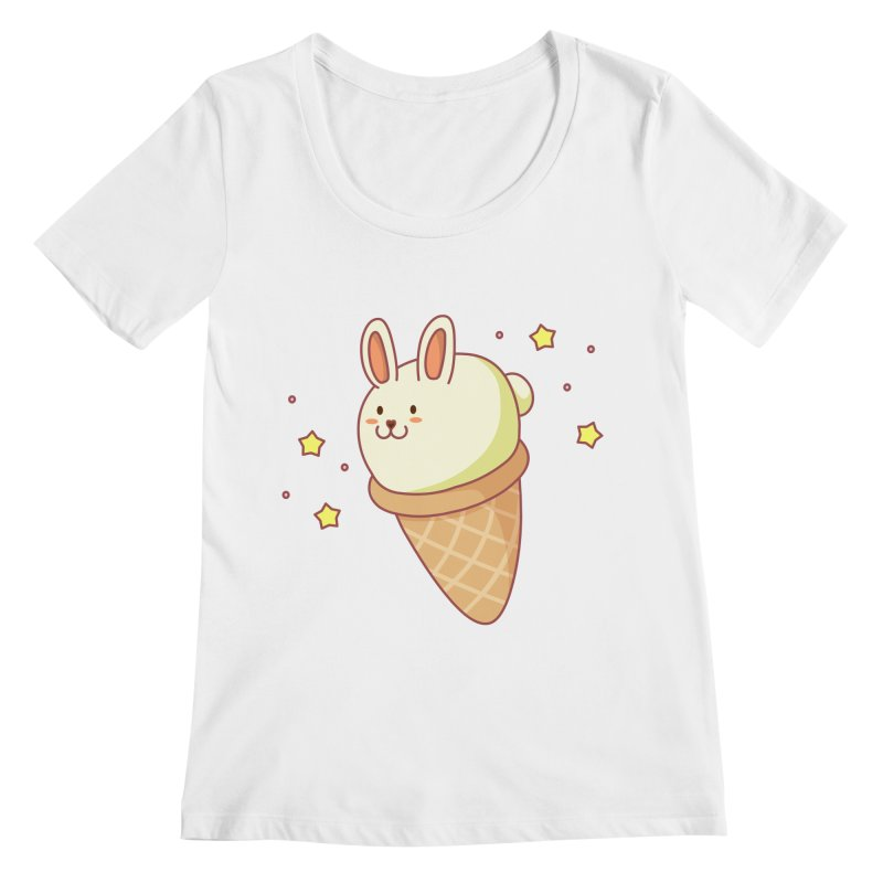 Bunny-lla Ice Cream Women's Regular Scoop Neck by anishacreations's Artist Shop