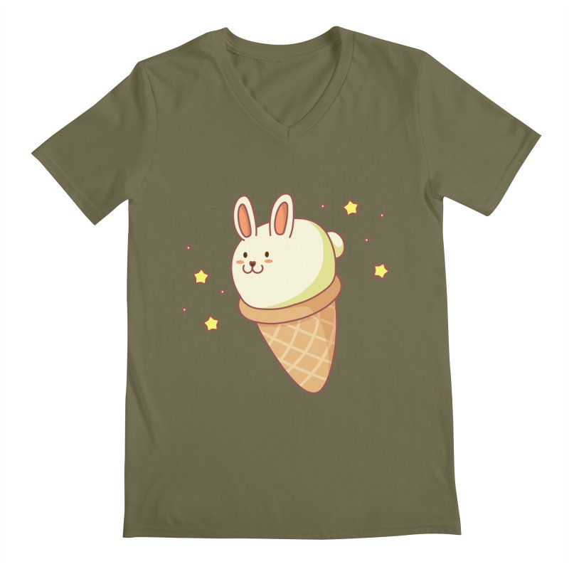 Bunny-lla Ice Cream Men's Regular V-Neck by anishacreations's Artist Shop