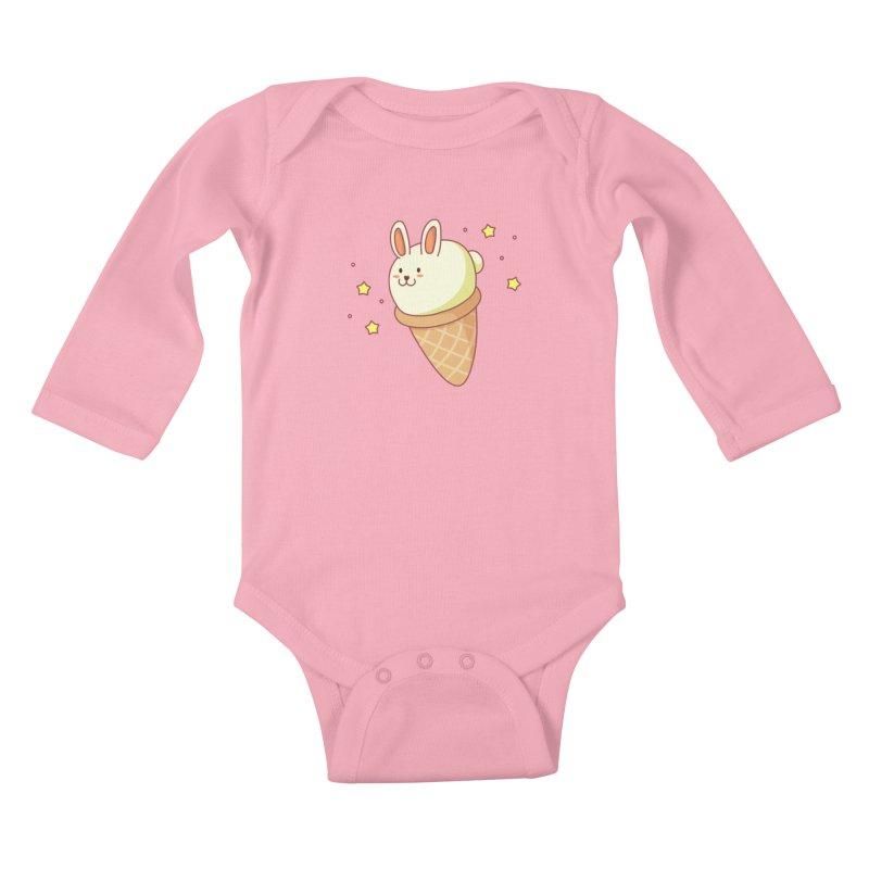 Bunny-lla Ice Cream Kids Baby Longsleeve Bodysuit by anishacreations's Artist Shop
