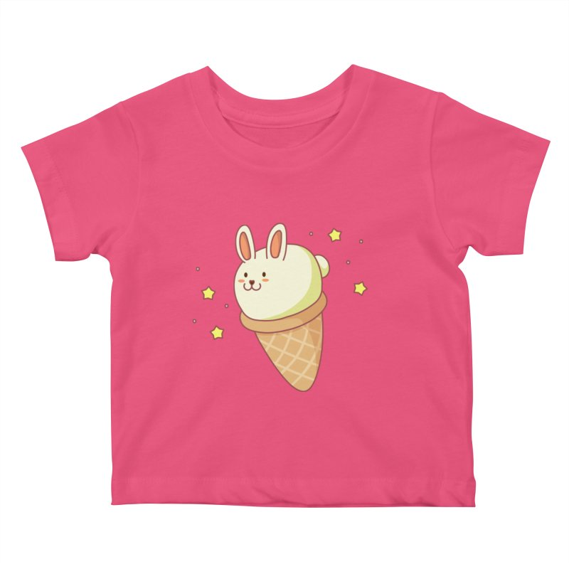 Bunny-lla Ice Cream Kids Baby T-Shirt by anishacreations's Artist Shop