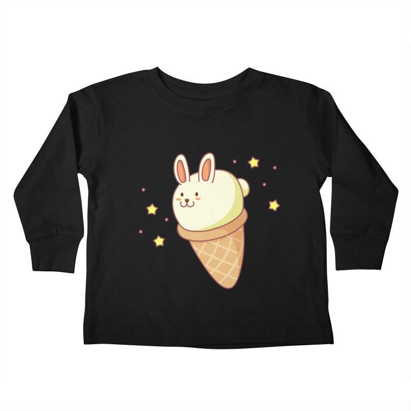 Bunny-lla Ice Cream Kids Toddler Longsleeve T-Shirt by anishacreations's Artist Shop