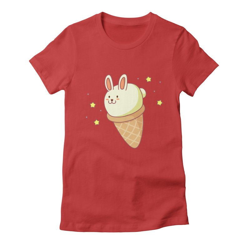 Bunny-lla Ice Cream Women's Fitted T-Shirt by anishacreations's Artist Shop