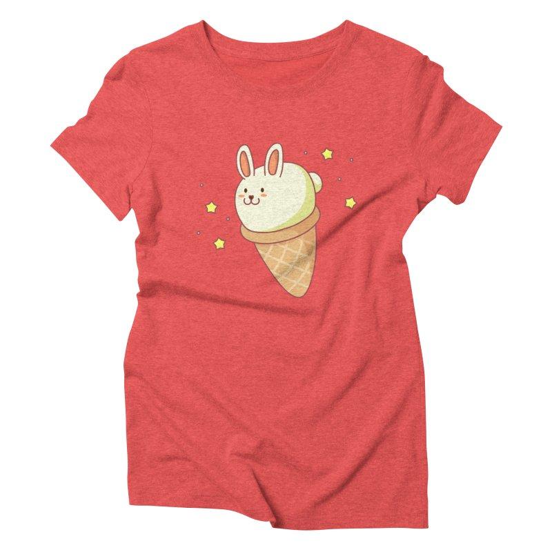 Bunny-lla Ice Cream Women's Triblend T-Shirt by anishacreations's Artist Shop