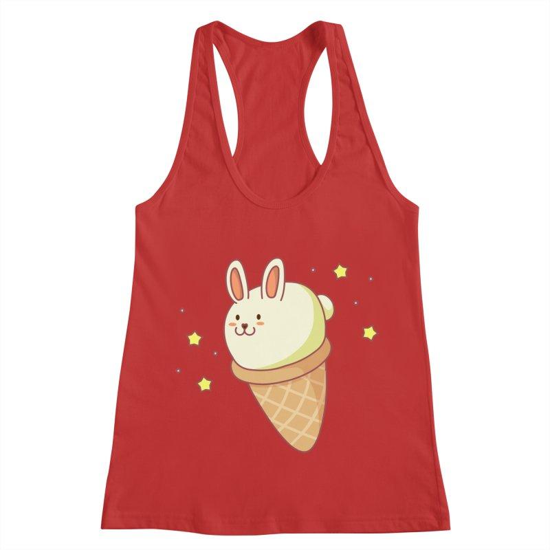 Bunny-lla Ice Cream Women's Racerback Tank by anishacreations's Artist Shop