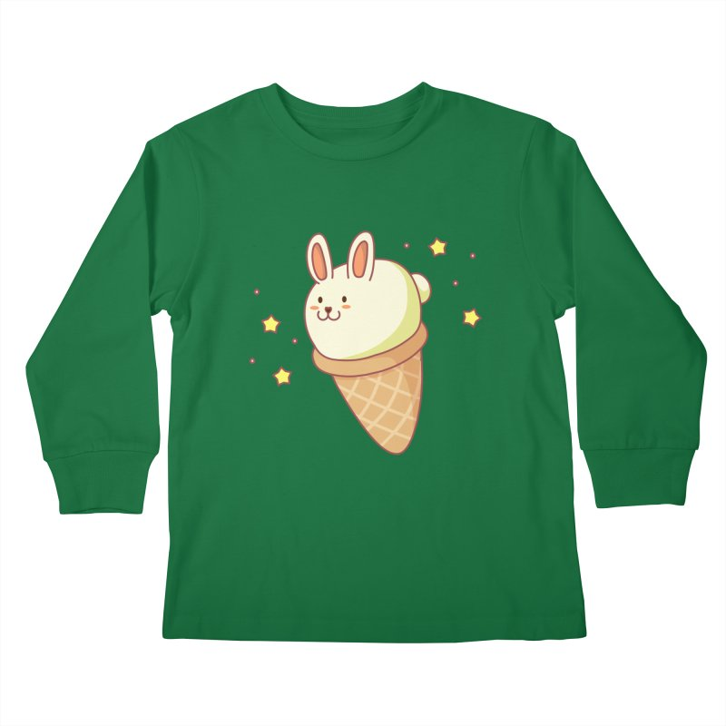 Bunny-lla Ice Cream Kids Longsleeve T-Shirt by anishacreations's Artist Shop