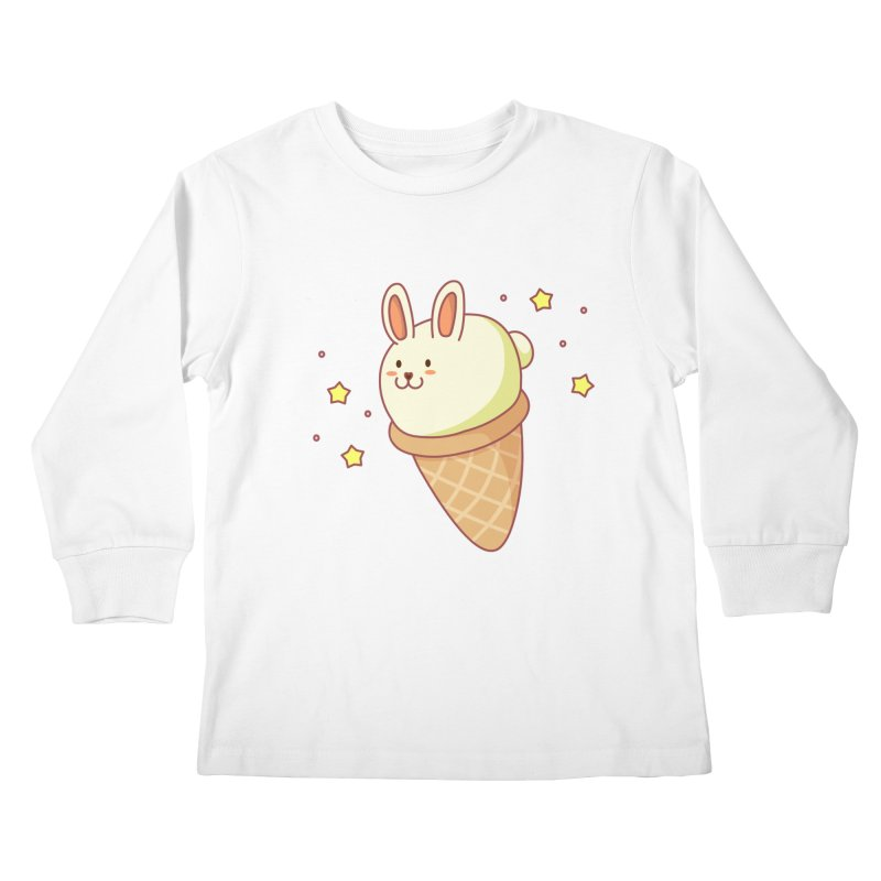 Bunny-lla Ice Cream Kids Longsleeve T-Shirt by anishacreations's Artist Shop
