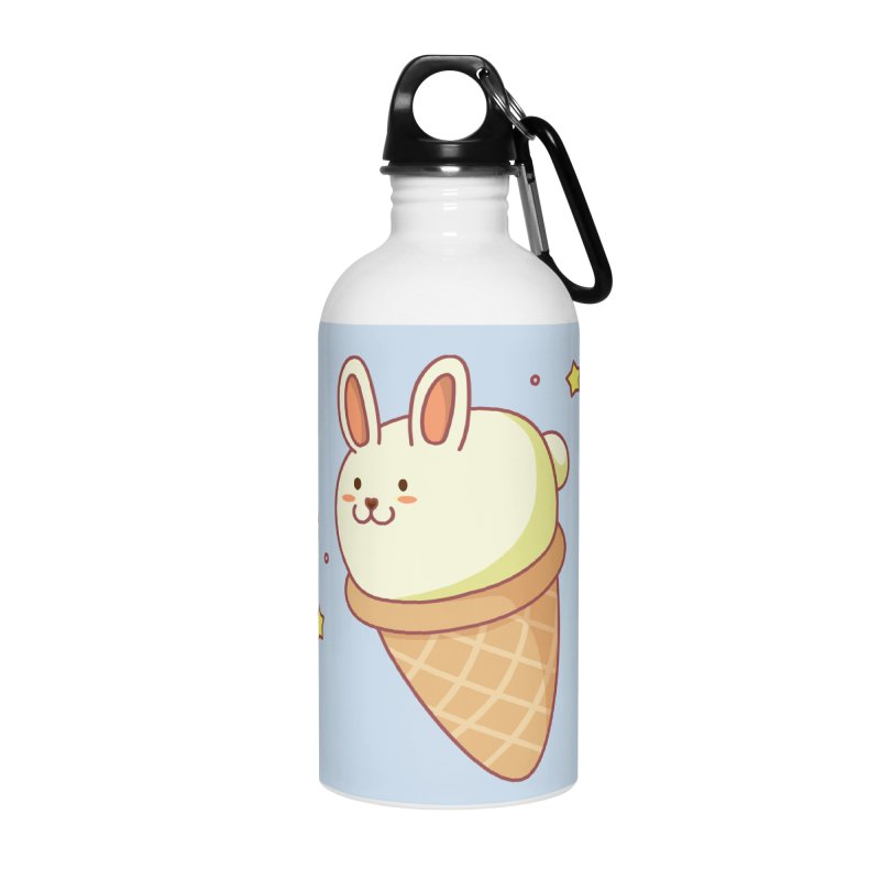 Bunny-lla Ice Cream Accessories Water Bottle by anishacreations's Artist Shop