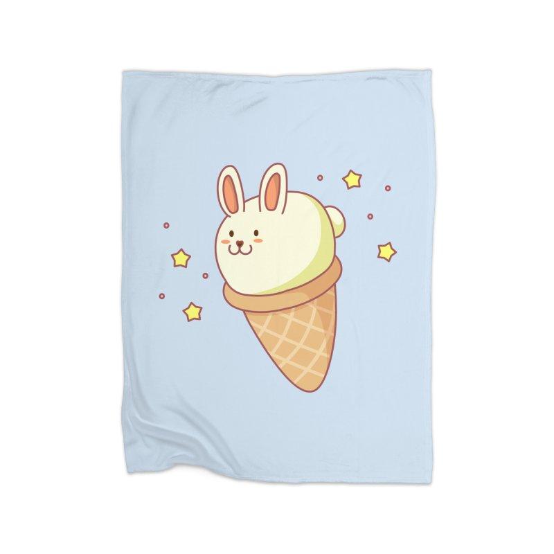 Bunny-lla Ice Cream Home Fleece Blanket Blanket by anishacreations's Artist Shop