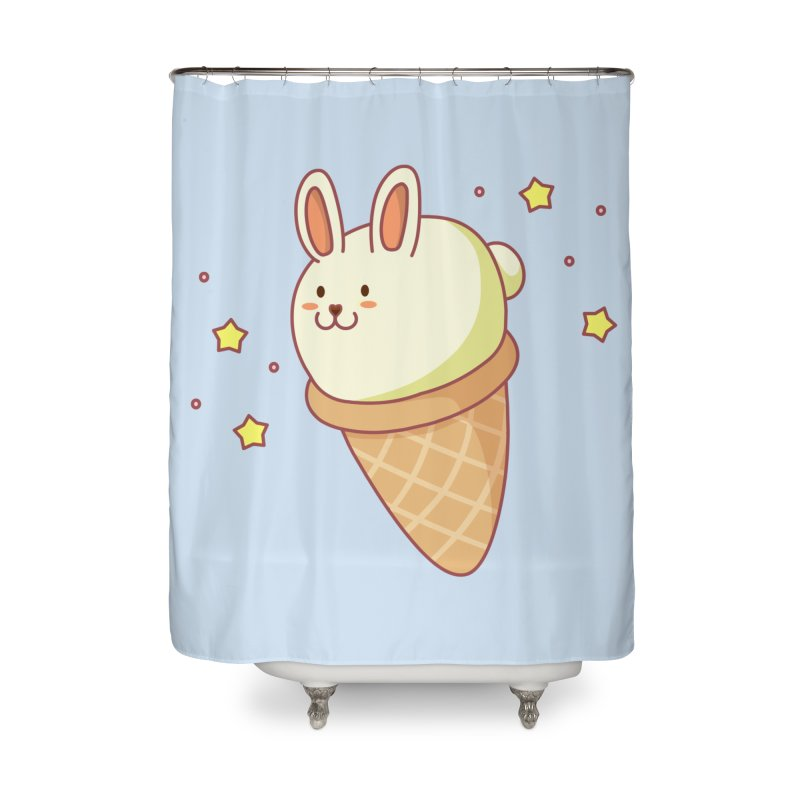 Bunny-lla Ice Cream Home Shower Curtain by anishacreations's Artist Shop