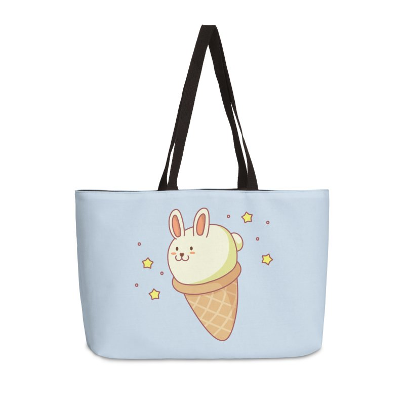 Bunny-lla Ice Cream Accessories Weekender Bag Bag by anishacreations's Artist Shop