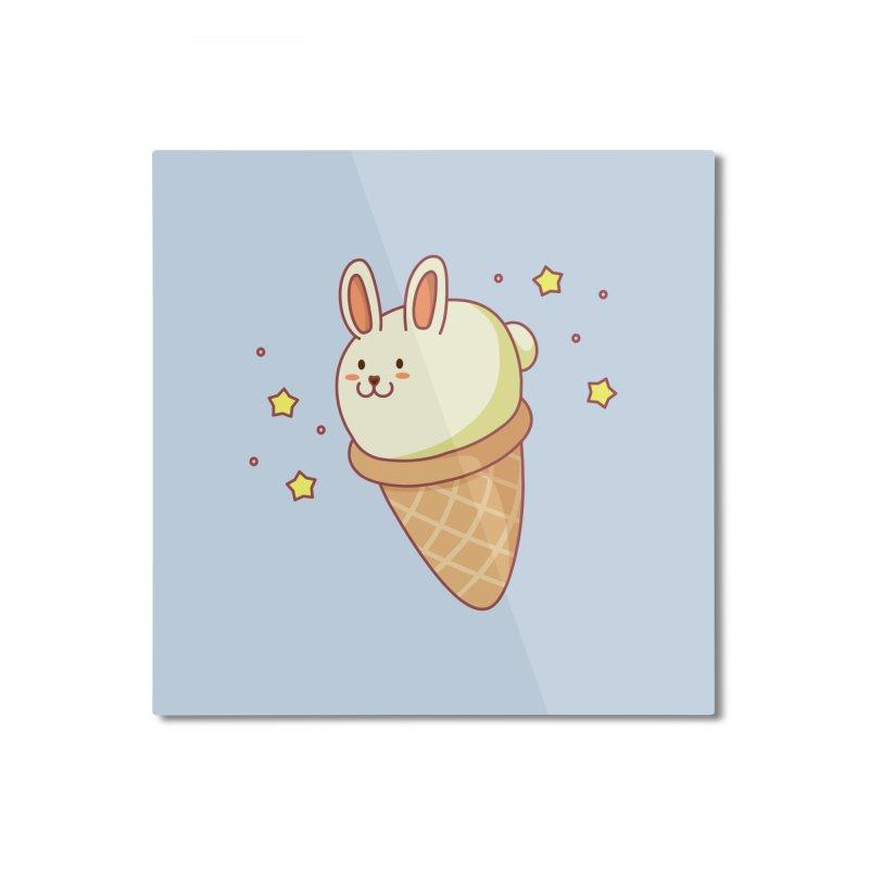 Bunny-lla Ice Cream Home Mounted Aluminum Print by anishacreations's Artist Shop