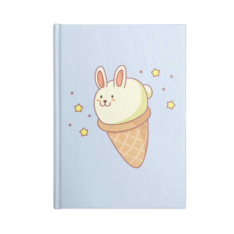 Bunny-lla Ice Cream Accessories Blank Journal Notebook by anishacreations's Artist Shop