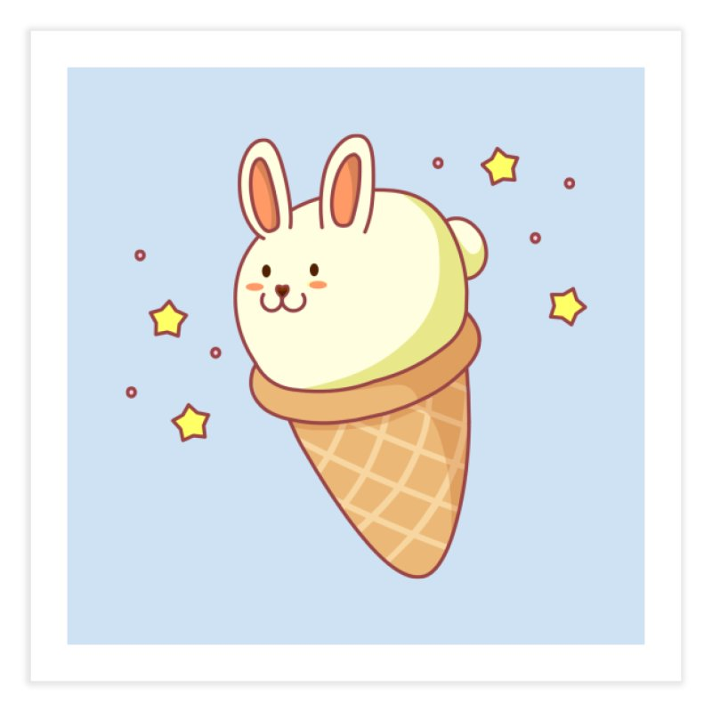 Bunny-lla Ice Cream Home Fine Art Print by anishacreations's Artist Shop