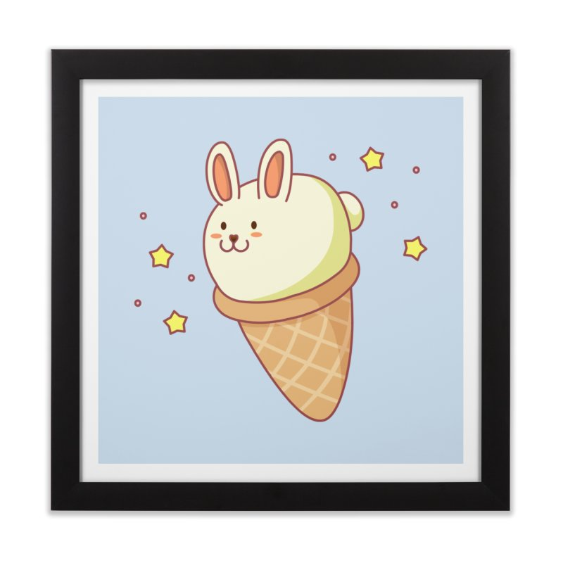 Bunny-lla Ice Cream Home Framed Fine Art Print by anishacreations's Artist Shop