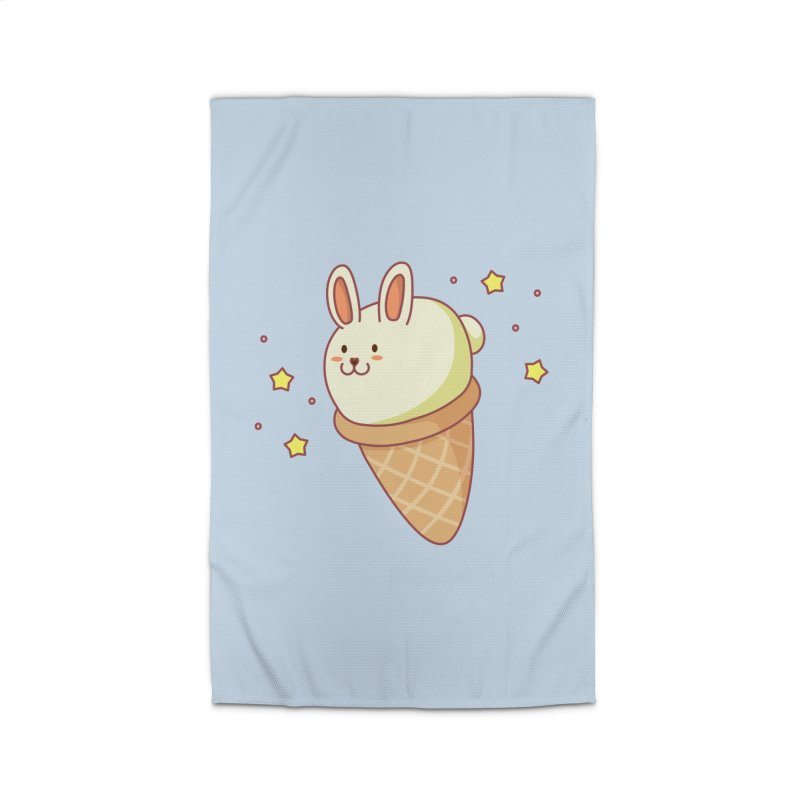 Bunny-lla Ice Cream Home Rug by anishacreations's Artist Shop