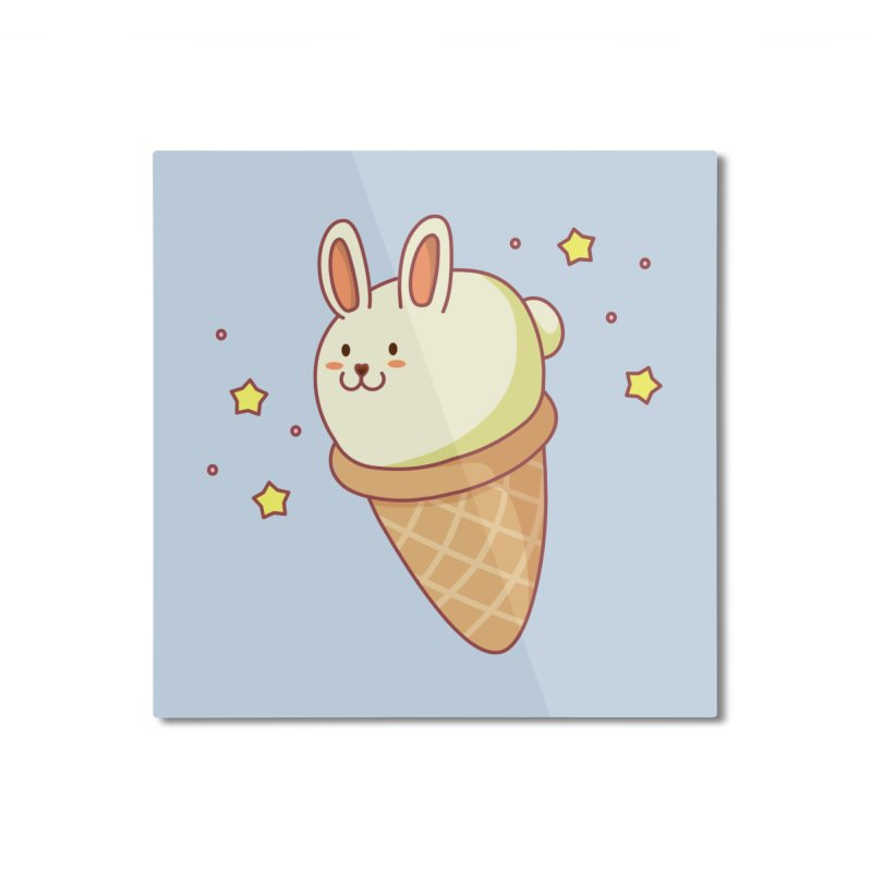 Bunny-lla Ice Cream Home Mounted Aluminum Print by anishacreations's Artist Shop