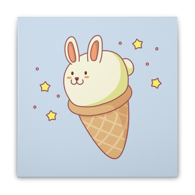 Bunny-lla Ice Cream Home Stretched Canvas by anishacreations's Artist Shop